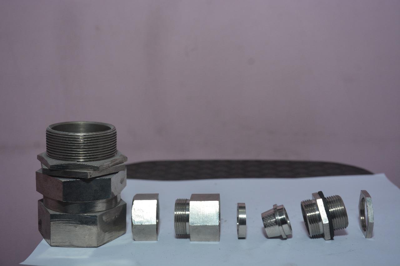 Brass double compressor gland